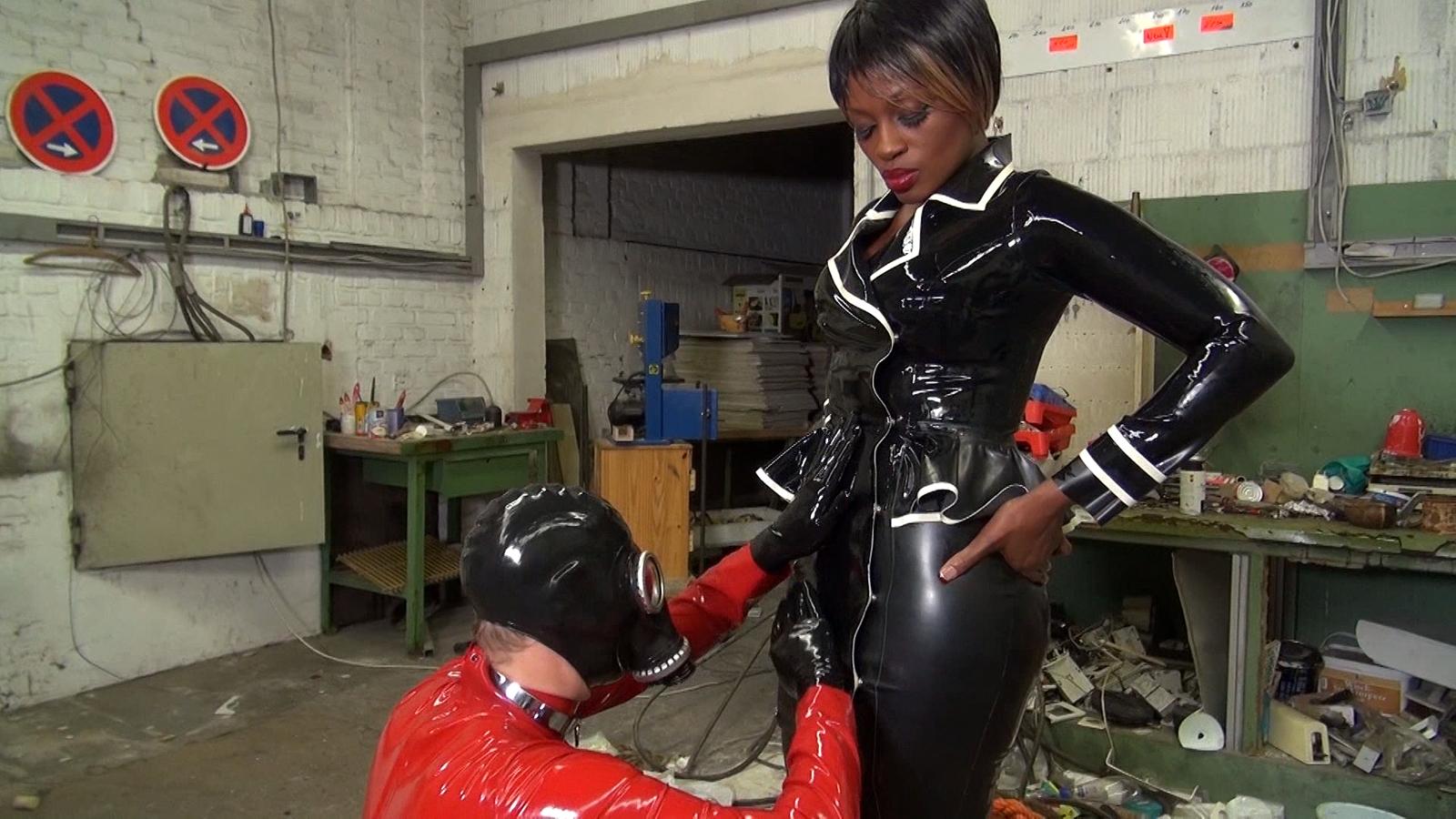 Gas mask cbt femdom mistress follow bondageland on twitter - 1 part 3