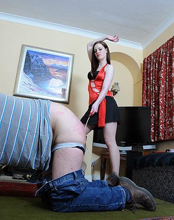 Brutal spanking