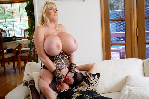 Busty MILF Smothering