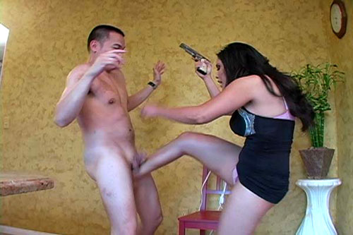 Once he is under her control, this brutal femdom mistress started kicking ...