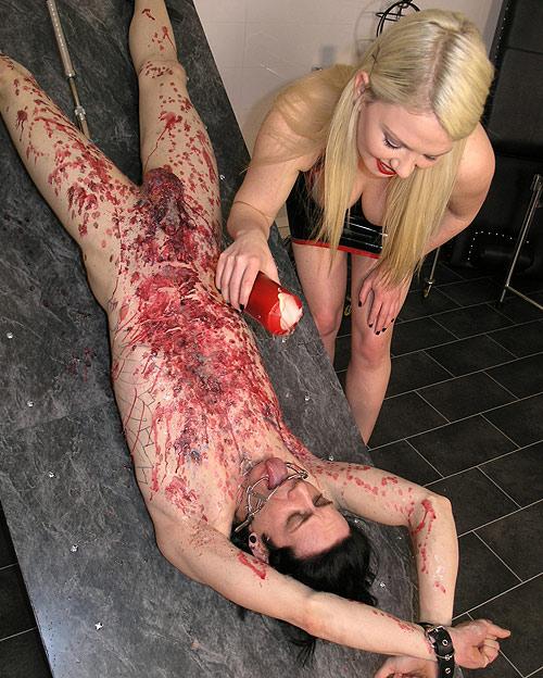 Brutal Wax Femdom