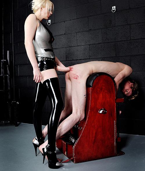 Brutal Strapon Torture