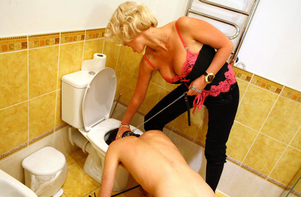 Femdom Toilet Cleaning